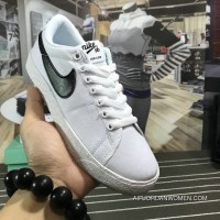 Canvas-match Breathable Comfortable Nike SB Blazer Zoom Low Women Shoes And Men Shoes White Latest
