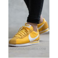 Nike Cortez Womens Yellow Black Friday 2016[XMS1889] Super Deals 84Ftcm
