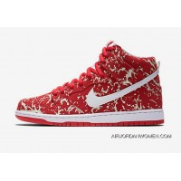 Nike Dunk SB High PRM Sneakers 313171-616 Snowflake Fat Pig Leather New Style