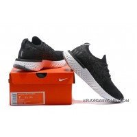 Nike Epic React Flyknit Running Shoes React Black And Dark Grey Discount