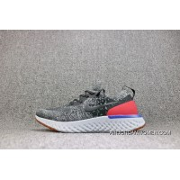 Nike Epic React Flyknit Foamposite Woven All Black Light Casual Running Shoes Men Shoes AQ0067-006 Online