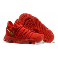 Nike KD 10 Gym Red Gold Outlet