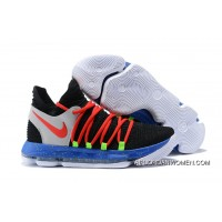New Release Nike Kd 10 Black/Red-Cool Grey-Blue