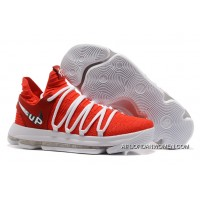 Discount 2017 New Nike Kd 10 Ep University Red White Size 40-46