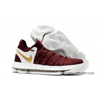 For Sale New Nike Kd 10 Burgundy White/Gold