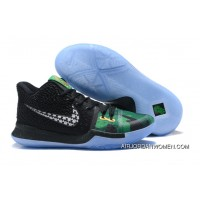 New Style 2017 Nike Kyrie 3 Celtics Camo Black/Green Shamrock
