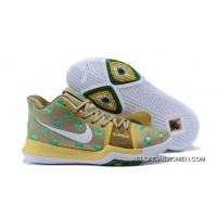 New Year Deals 2017 Mens Nike Kyrie 3 Luck Celtics Pe Gold Green Shamrock