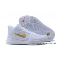 2017 Nike Kyrie 3 White/Metallic Gold Shoes Latest