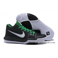 Best Nike Kyrie 3 Black/Green-White Shoes