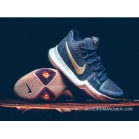 Nike Kyrie 3 'Obsidian' Obsidian And Metallic Gold-Summit White New Style