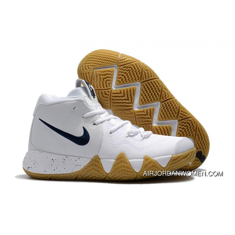 f4a8ad6c2c3 2018 Nike Kyrie 4 White Gum-Deep Blue Top Deals