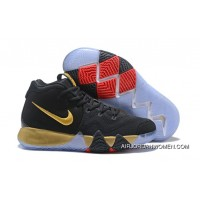 New Year Deals 2018 Nike Kyrie 4 Black Gold Red Shoes