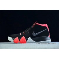Free Shipping Nike Kyrie 4 Black-Solar Red Sneakers