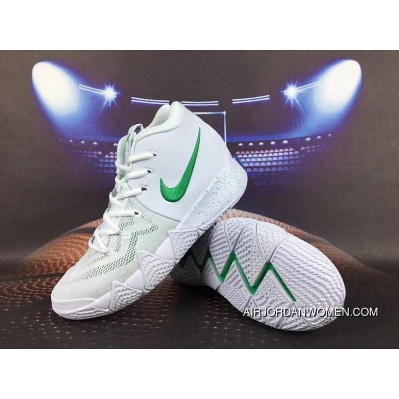new product 89609 4de3a Nike Kyrie 4 Owen 4 White Green For Sale