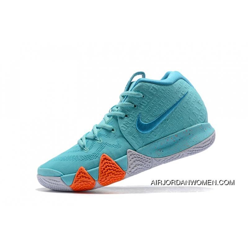 "newest a64be dac60 Mens Nike Kyrie 4 ""Power Is Female"" Light Aqua/Neo Turquoise Shoes Discount"