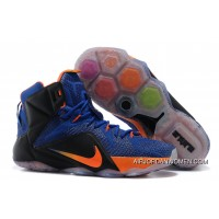 Nike Lebron 12 Hyper Blue/Black-Orange New Release