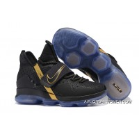 New Year Deals 2017 Nike Lebron 14 Black/Metallic Gold Shoes