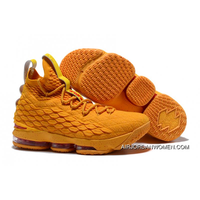 low priced 68c8a 08372 Nike Lebron 15 Cavs Orange/Yellow New Style