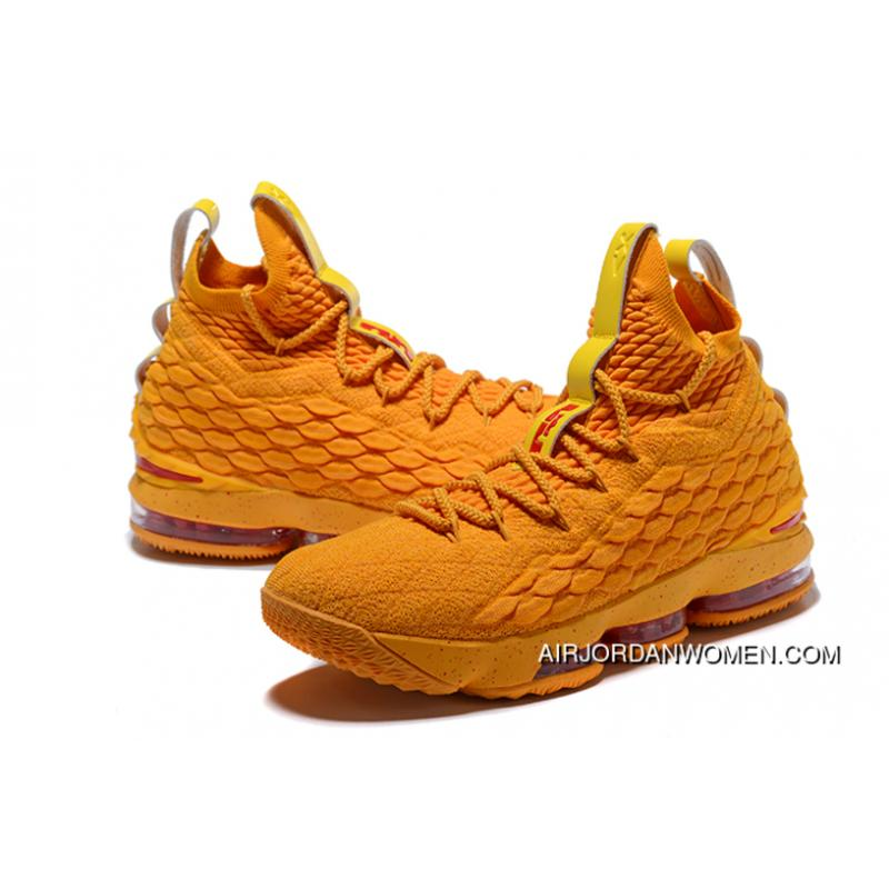 cf976eb71de5a0 ... Nike Lebron 15 Cavs Orange Yellow New Style ...
