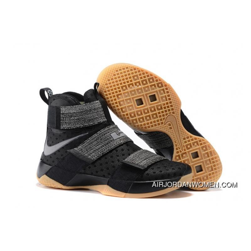 promo code c5489 a8cb7 USD  89.43  232.51. Nike LeBron Soldier 10  Black Gum  For Sale ...