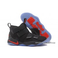 Top Deals 2017 Nike LeBron Soldier 11 Black Red
