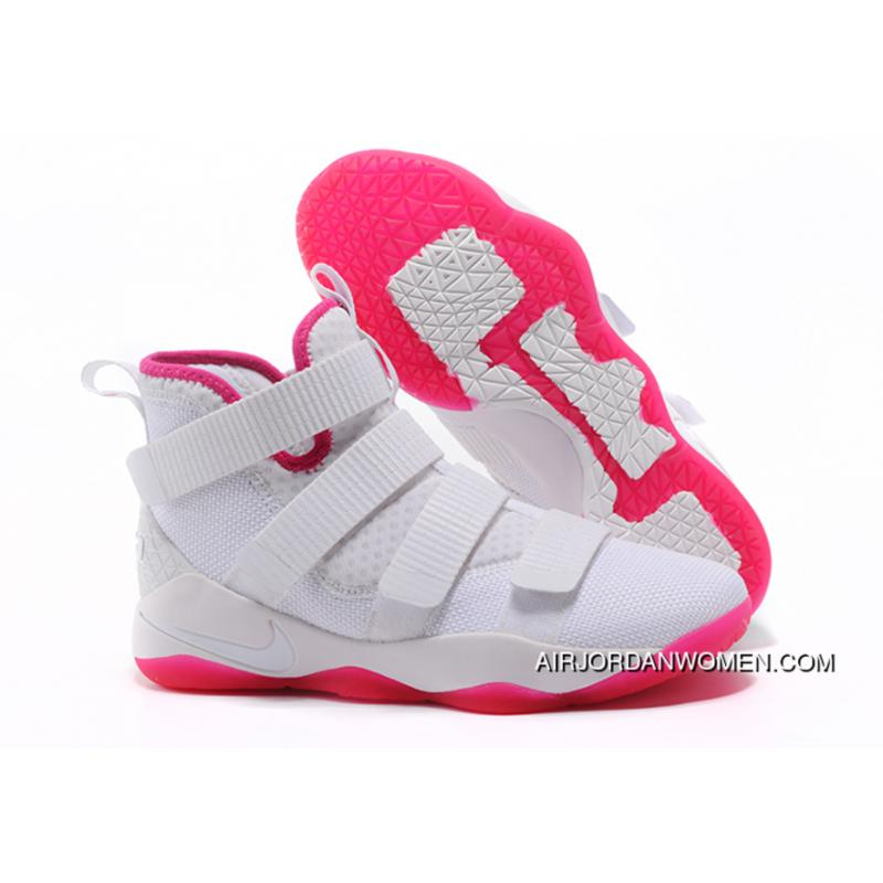 sale retailer f25ad d1565 2017 Nike Lebron Soldier 11 Ep Pink White Best