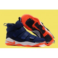 Nike LeBron Soldier 11 Deep Blue And Orange Latest