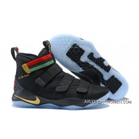 Nike LeBron Soldier 11 'BHM' Black Green Outlet