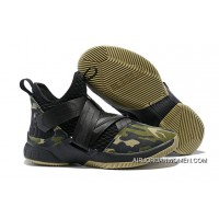 1931#12 Nike Lebron Soldier 12 Green Camo 2018 Online
