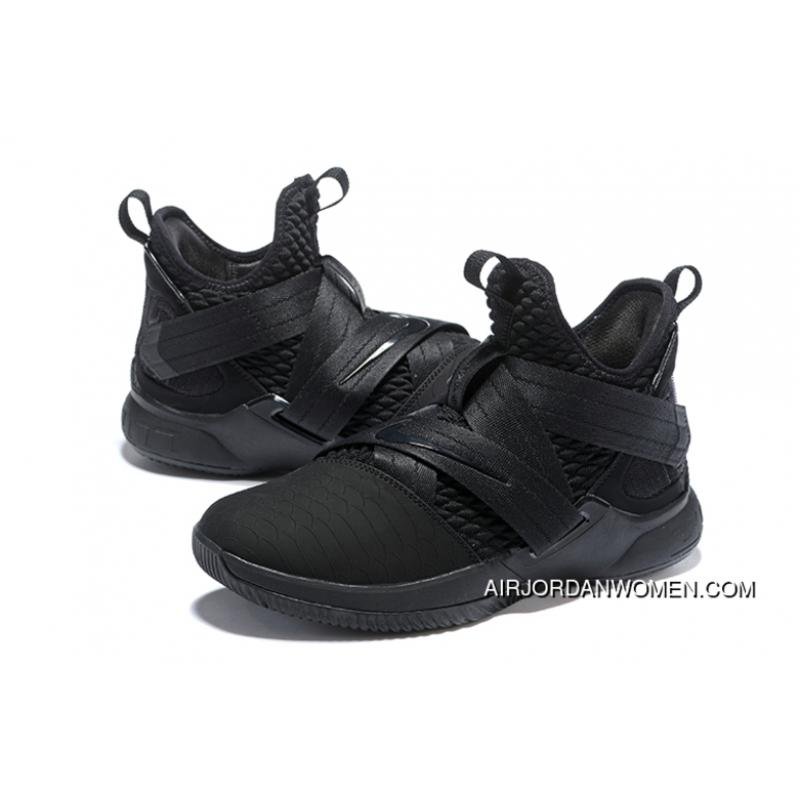 reputable site 758d1 35343 All Black Nike LeBron Soldier 12