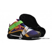 Nike Lebron Soldier 9 Multi Color/Black-White Basketball Shoe For Sale