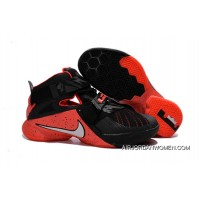 Discount Nike LeBron Soldier 9 Black Red Basketball Shoe