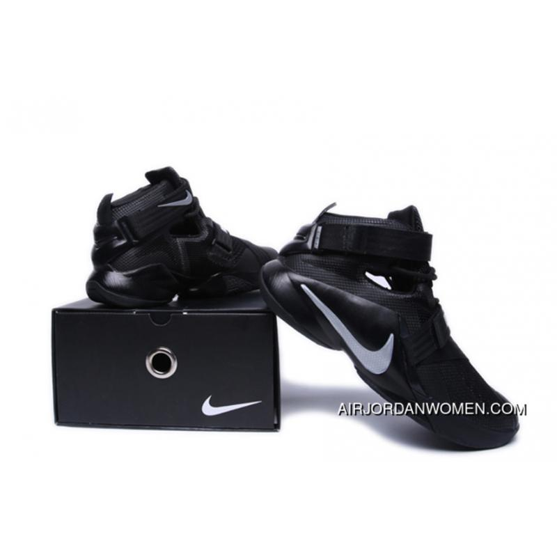 low priced dffea e8dc6 LeBron Soldier 9 All Black Online