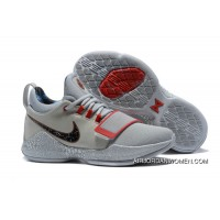 Nike Pg 1 Gladiator Pe Grey Red Pg Basketball Shoes Discount