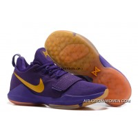 Nike Zoom Pg 1 Shoes Nike Zoom Pg 1 Lakers Purple Basketball Shoes New Year Deals