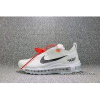 Nike X OFF-WHITE Air Max 97 OFF-WHITE Joint Running Shoes AJ4585 100 Women Shoes And Men Shoes Latest