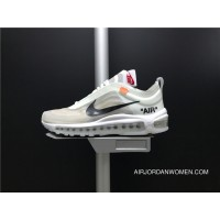 OFF White X AJ4585-100 Nike Air Max 97 Use Transparent Plastic Material Women Shoes And Men Shoes Latest