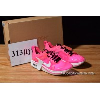 Off-White Nike Zoom Fly Pink AJ4588-600 SP OW Limited Marathon Light Breathable Fly General Feeling Free Shipping