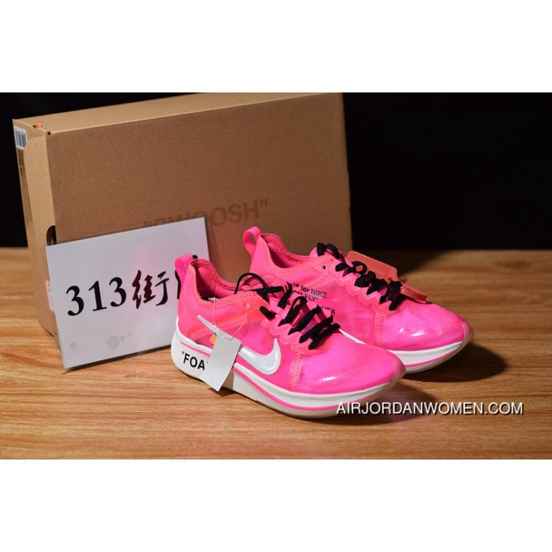 1123d1f6a744 Off-White Nike Zoom Fly Pink AJ4588-600 SP OW Limited Marathon Light ...