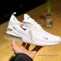 OFF-WHITE X Nike Air Max 270 Collaboration Series Heel Half-palm Cushion Jogging ShoesAH8050-100 Women Shoes And Men Shoes New Year Deals