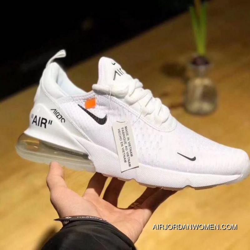 83d67d9af0 OFF-WHITE X Nike Air Max 270 Collaboration Series Heel Half-palm ...