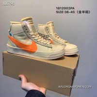 Women Off-White X Nike Blazer Mid Sneakers SKU 265087-391 Top Deals