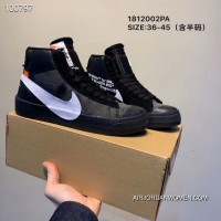 Men Off-White X Nike Blazer Mid Running Shoes SKU 28957-464 Best