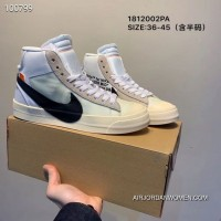 Men Off-White X Nike Blazer Mid Running Shoes SKU 94497-462 Copuon