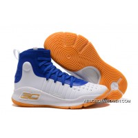 Under Armour Curry 4 Warriors White/Blue New Style
