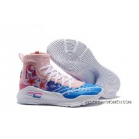 Discount Under Armour Curry 4 Floral White Pink Blue Shoes