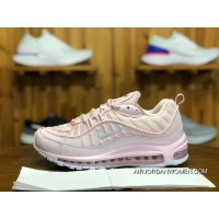 240 Nike Air Max 98 Triple White Cherry Blossom Sakura Pink Women Running Shoes AJ6302-600 Size New Year Deals