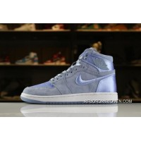 Top Deals Air Jordan 1 High GS SOH Hydrogen Blue/White-Metallic Gold AO1847-445