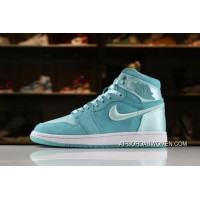Air Jordan 1 High GS SOH Light Aqua/White-Metallic Gold AO1847-440 Best