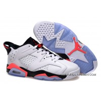 For Sale Girls Air Jordan 6 Low White Infrared Shoes